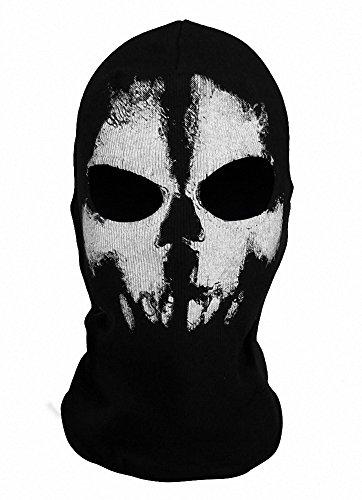 Balaclava Haube Gesichtsmaske zentai (Einheitsgröße, Schädel-1) ()