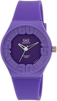 Q&Q Men's Purple Dial Rubber Band Watch - V