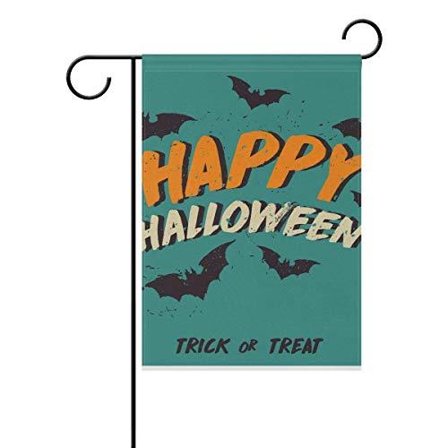 (Dozili Flagge Happy Halloween Fledermäuse Hausdeko Gartenflagge wetterfest & doppelseitig Hofflagge, Polyester, bunt, 28