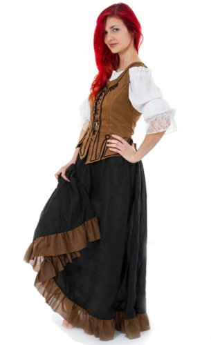 Maylynn 12234 - Mittelalter Kostüm Magd Schankmaid Bäuerin Nea, 3-teilig, Größe (Mittelalter Magd Kostüme)