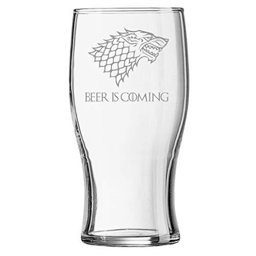 Lapal Dimension Beer is Coming House Stark Game of Thrones Bierglas