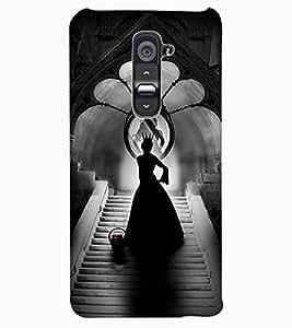 ColourCraft Angel in Castle Design Back Case Cover for LG G2