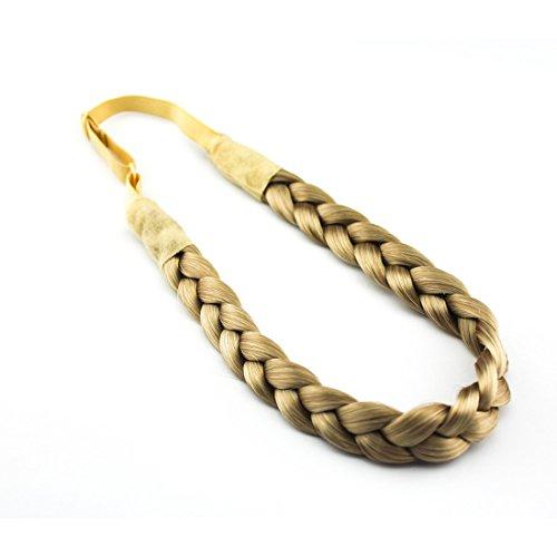 Merrylight Zopf Haarteil Haarband Stirnband Haarschmuck geflochten(0675 Mix Gold Blonde-T24/88)
