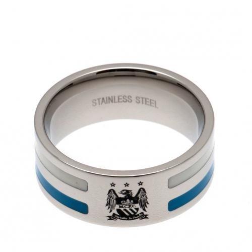 Colour Stripe Ring - Manchester City F.C (Medium)