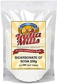 INDIA MILLS Baking Soda (Bicarbonate Of Soda), 200 gm