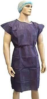 Bata Paciente s/mangas 30 gr azul oscura-Caja 100u