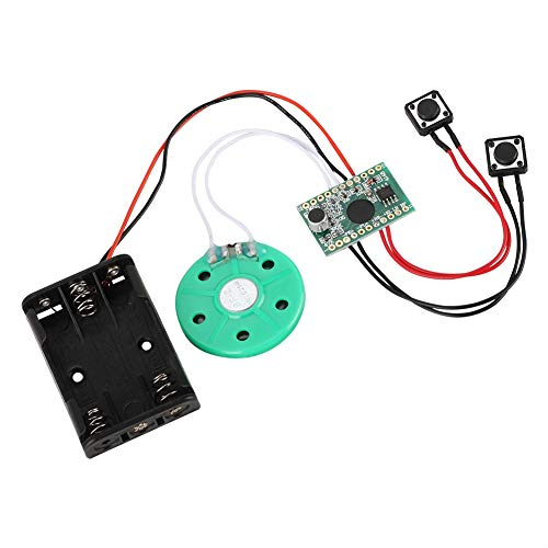 Tonysa DIY Grußkarten Chip,30s Recordable Voice Sound Modul,Ton Sprachaufnahme Spieler Chip Modul für Weihnachtengeschenke/Schmuckkästchen/Kunsthandwerk/Kinderspielzeug usw. (Sound-modul Chip)