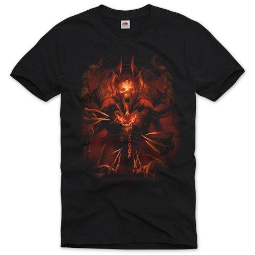 style3 El Diablo T-Shirt Herren metal rollenspiel teufel rpg wow mmorpg of world, Größe:L (Diablo-shirt)