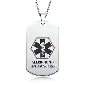 Tétracycline allergique à EMS en acier inoxydable avec coffret cadeau
