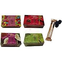 Pack 4 paquetes de Shisha sin nicotina y un paquete de carbones de 10 pastillas