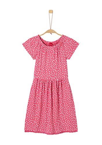 s.Oliver Mädchen 73.905.82.2810 Kleid, Rosa (Pink AOP 45a2), 158 (Herstellergröße: 158/REG) -