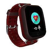 Reloj inteligente Hombre viejo Monitor de salud de la frecuencia cardíaca Posicionamiento GPS Anti-pérdida Cataratas Ayuda Paso cuenta salud Obsequio anciano ( Color : B )