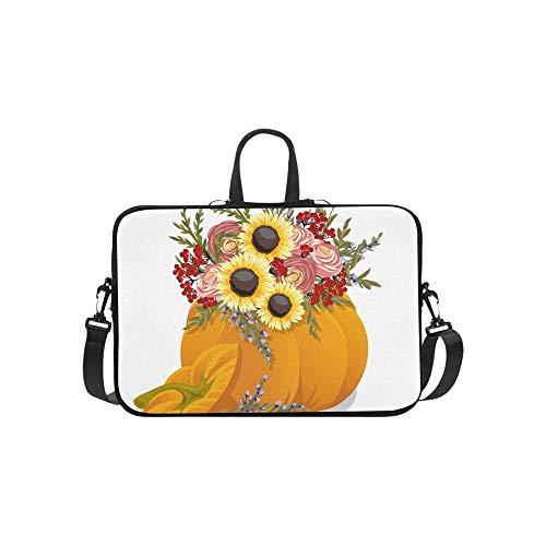 Verschiedene Arten von Kürbis Muster Aktentasche Laptoptasche Messenger Schulter Arbeitstasche Crossbody Handtasche für Geschäftsreisen