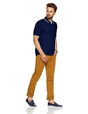 Marks & Spencer Men's Solid Slim Fit Polo