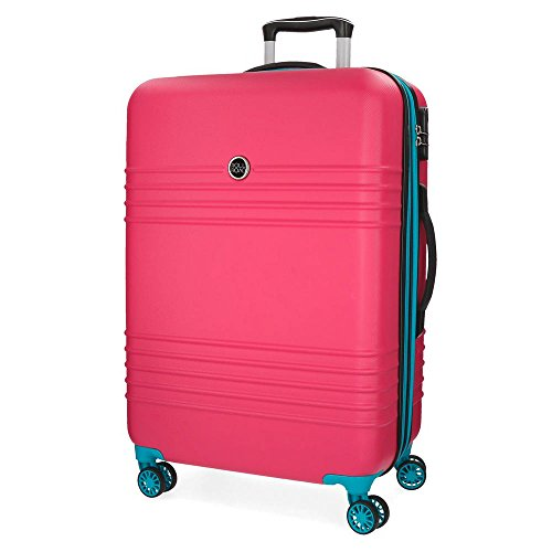 Maleta mediana Roll Road India 69cm Fucsia