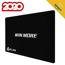 KLIM Win More Hochwertiges Mousepad - rutschfest - Extrem glatt - Langlebig - Perfekte Präzision für Gaming - 32 x 27 x 0,3 cm [ Neue 2020 Version ]
