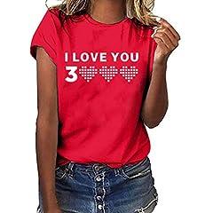 Idea Regalo - JJggsi4 Perfect Tee T Shirt Donna Camicetta Spalline Stampate Maglietta Ti Amo 3000 Volte Maglia per Signora Marvel Maglietta Allentata per Donna T-Shirt Camicetta