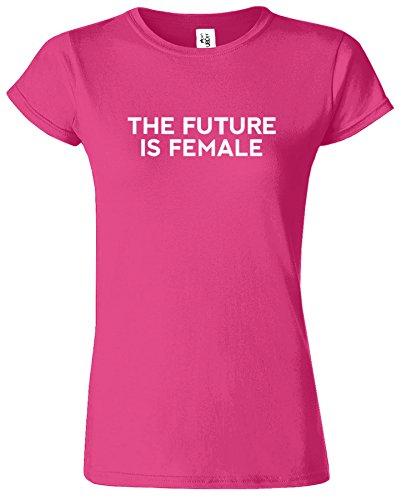 The Future Is Female Madchen Feminist Damen T-Shirt Antique Heliconia / Weiß Design