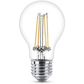 Philips Estándar 8718696573839 - Lámpara LED (Blanco cálido, Transparente, A++, 52 mA