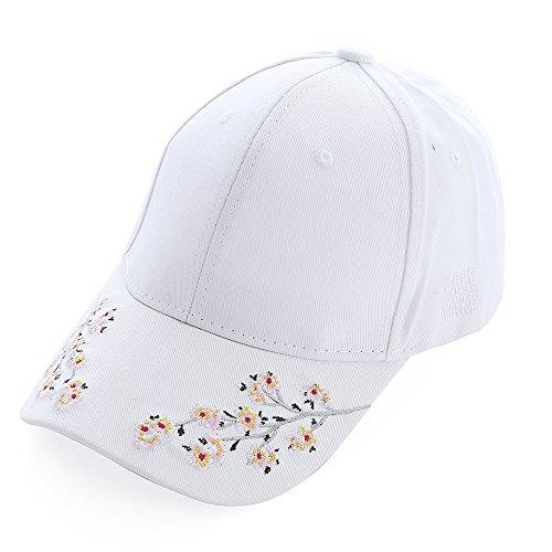 Baseballcap Hut Hüte Sommermützen Damen Mädchen Weiß