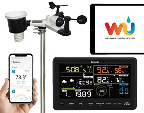 Sainlogic inalámbrica profesional-10 en 1-Estación meteorológica con Wi-Fi y con Sensor Exterior...