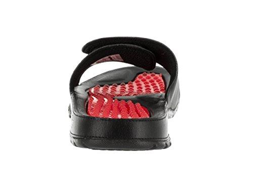 Nike Mens Jordan Hydro V Retro Synthetic Sandals Schwarz Rot