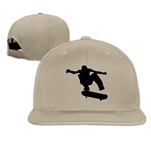 Naiyin Unisex Skateboard Skater Adjustable Sunscreen Trucker Hat Sports Cap