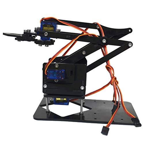 F Fityle DIY 4-dof Roboter Mechanische Arm Getriebe 4 Servos Für Arduino Lernsätze - Iv Arm