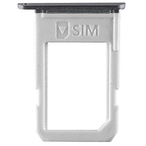 kartenhalter black / schwarz für Samsung G928F Galaxy S6 Edge PLUS (Sim Tray) - GH98-37692B ()