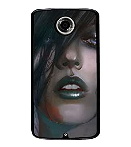 Crying Girl 2D Hard Polycarbonate Designer Back Case Cover for Motorola Nexus 6 :: Motorola Nexus X :: Motorola Moto X Pro :: Motorola Google Nexus 6