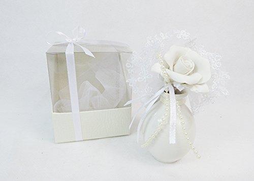 Zelda bomboniere bomboniera con scatola profumatore gesso vaso