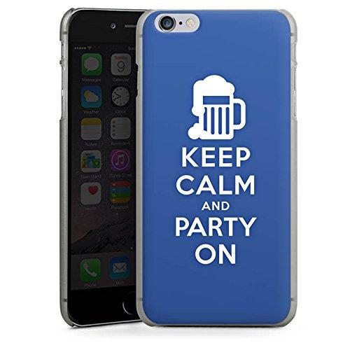 Apple iPhone X Silikon Hülle Case Schutzhülle Keep Calm Party Bier Hard Case anthrazit-klar