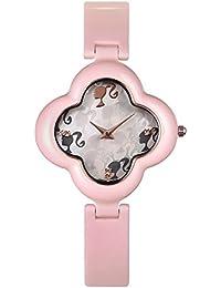 Barbie W50260L.02A Reloj de Pulsera para mujer de forma de trébol de cuatro hojas