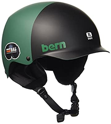 Bern Men's Team Baker All Season Helmet-Matte Black, Small/54-55.5 cm by Bern