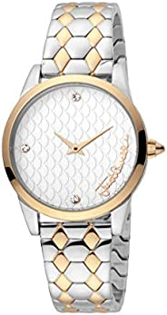 Just Cavalli Womens Quartz Watch, Analog-Digital Display and Stainless Steel Strap, JC1L087M0085