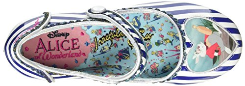 Irregular Choice Tick Tock, Escarpins femme Blue (Blue/White)