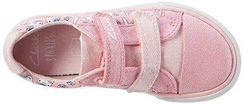 Clarks Gracie Pip, Sneakers Basses Fille Rose (Pink Combi)