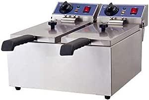 6L set di friggitrici Friggitrice elettrica commerciale a serbatoio singolo in acciaio inossidabile Friggitrice elettrica professionale per ristorante singolo con cestello dellolio rimovibile