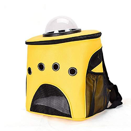 GDDYQ Mochila para Mascotas, Fuera del Hombro Bolsa de Gato Transpirable, Adecuado para Gatos y Perros pequeños para Viajar, Buscar Tratamiento médico,Yellow