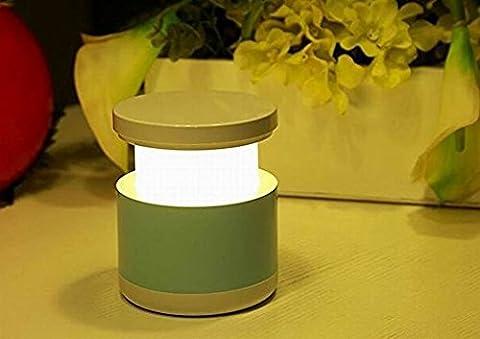Creative USB wiederaufladbare bunte Teleskop Lampe LED intelligente Atmosphäre Nachtlicht für Home Party Weihnachtsgeschenke Blau
