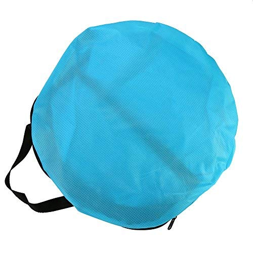 Yosoo Vela de piragua plegable transparente con bolsa de almacenamiento accesorios para kayak, azul