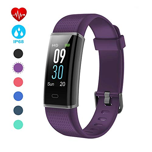 Semaco Pulsera Actividad Impermeable IP68, Pantalla a Todo Color con 14 Modos de Deporte, Pulsera Inteligente con Pulsómetro, Monitor de Calorías, Sueño, Podómetro, Monitor de Ritmo Cardíaco