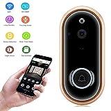 Video-Türklingel-Kamera,Wireless 1080P/720P HD-Sicherheitsring Video-Türklingel mit Nachtsicht, Zweiweg-Audio,App-Steuerung und Bewegungserkennung für IOS und Android,batteriebetrieben (1080P)
