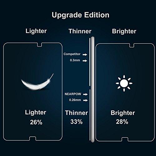 Samsung Galaxy Tab A 10.1 Panzerglas Displayschutzfolie, Nearpow Schutzfolie 9H Härte, Anti-Kratzen, Anti-Öl, Anti-Bläschen, Anti-Fingerabdruck - 7