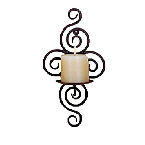 QHGstore Iron Candle Holder Sconce Hanging Wall Art Candlestick for Decoration (Candele Sconce)