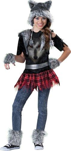 InCharacter Mädchen Wolf Kostüm bunt 128/140 (8-10 Jahre)