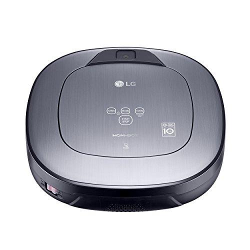 LG Electronics VR65710LVMP.AMSQEEU Robot Aspirador Hombot Turbo S10, 58 W, 60 Decibeles, Gris Titanio