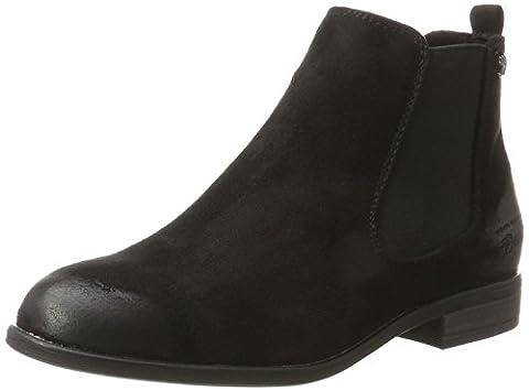 Tom Tailor Damen 3795702 Chelsea Boots, Schwarz (Black), 39 EU
