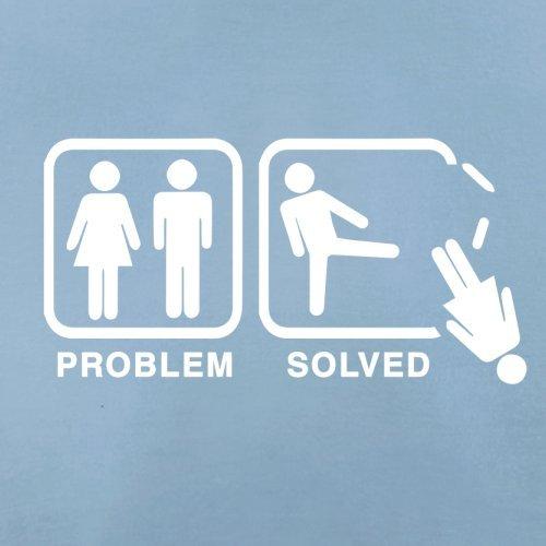 Problem gelöst - Keine Frau - Herren T-Shirt - 13 Farben Himmelblau