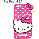 Qzey Cat Designer Hello Kitty Case Cover For Xiaomi Redmi 5A -Pink